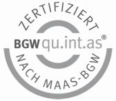 Bild: Zertifiziert nach MAAS-BGW qu.int.as